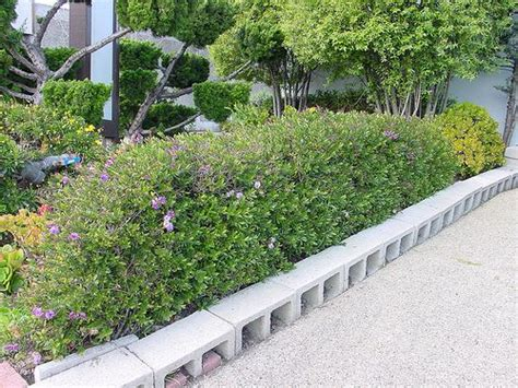Diy Garden Edging Ideas Landscape Edging Design Ideas Diy With Cinder Blocks Pinterest