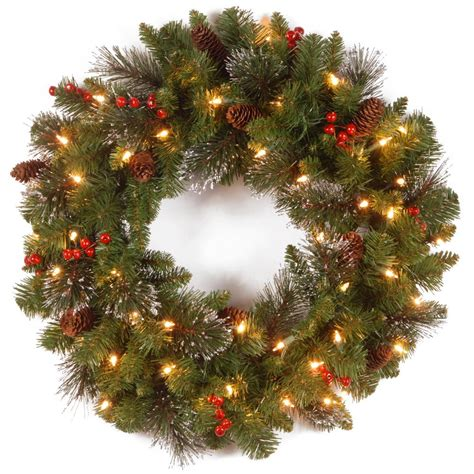 outdoor wreath with lights national tree company 30 in noble artificial wreath with
