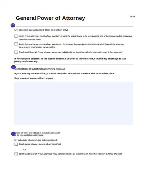 free general power of attorney template power of attorney form template