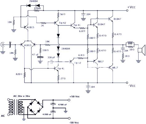 200w power lifier schematic diagram pcb design