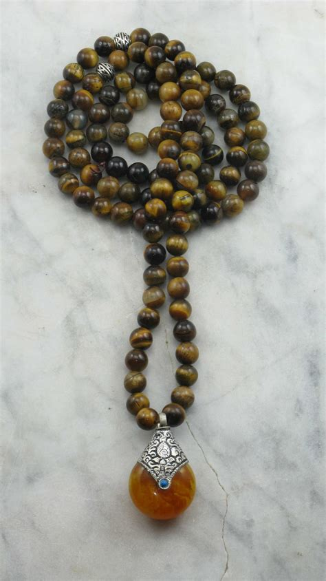 meaning of 108 mala balance mala necklace 108 tiger eye mala