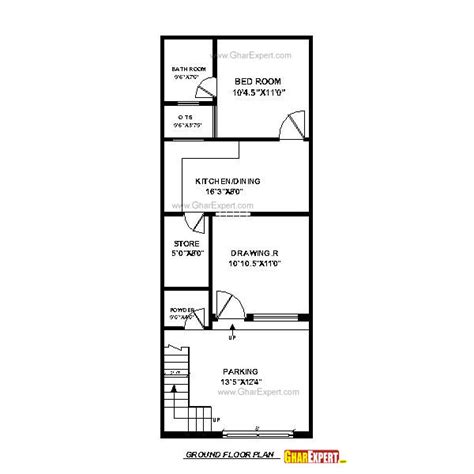 house plan for 20 feet by 45 feet plot house plan for 17 feet by 45 feet plot plot size 85 square yards gharexpert com