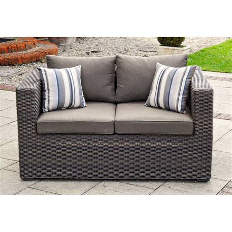rattan 2 seater sofa kensington deluxe rattan 2 seat sofa maple regatta