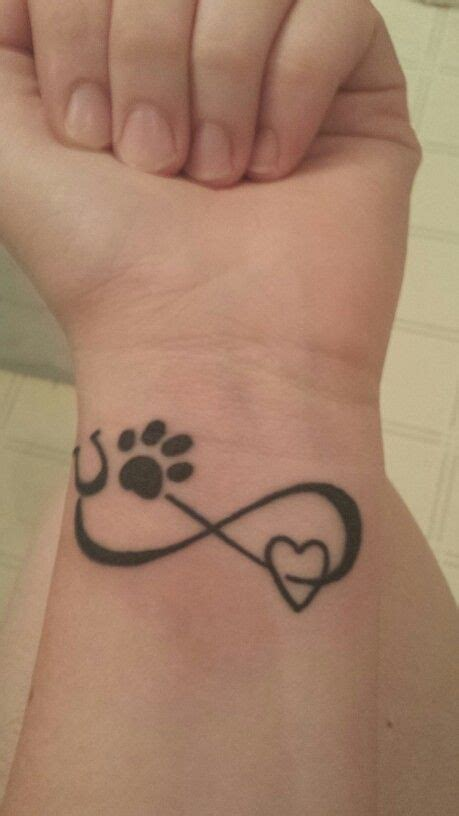 infinity tattoo with dog paw new tattoo paw print horse shoe heart and infinity sign