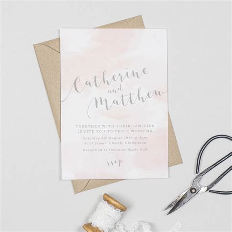 wedding invitations high armadale watercolour wedding invitations by project pretty notonthehighstreet