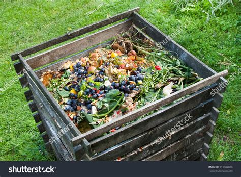 Compost Bin Garden Composting Pile Rotting Stock Photo Compost For Vegetable Garden