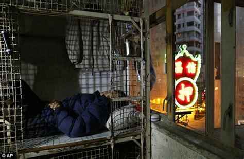 hong kong s metal cage homes how tens of thousands live