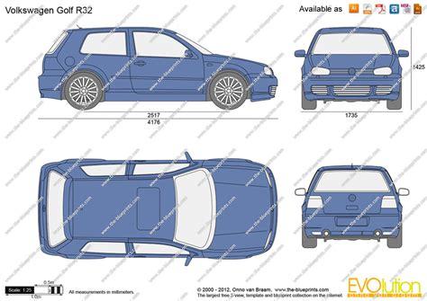 Cad Drawings Online the blueprints com vector drawing volkswagen golf r32