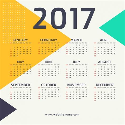 calendar with triangles vector free download
