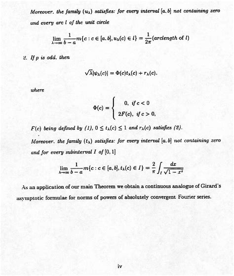 abstract thesis math thesis abstract
