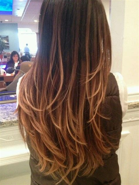 brown and blonde ombre with a line hair cut ombre hair color rich dark brown milk chocolate brown