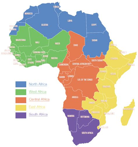 regional map of south africa africa regions map www pixshark images galleries