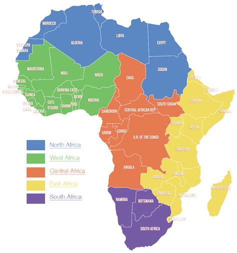 regions of africa map africa regions map www pixshark images galleries