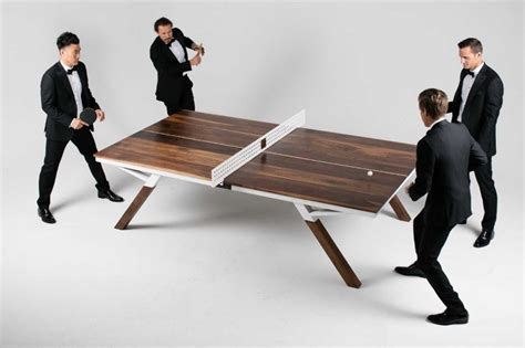you can play ping pong in this modern dining table