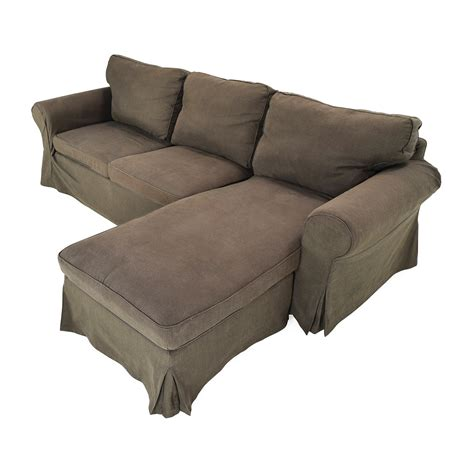 ektorp sofa with chaise 49 off ikea ektorp brown couch with chaise sofas