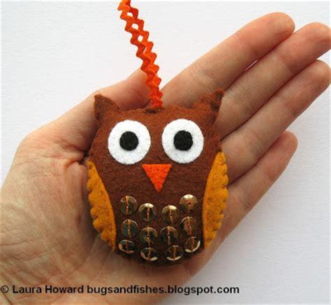 felt owl decorations handmade tree decorations weallsew