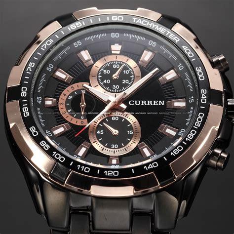 curren jam tangan fashion stainless steel jam tangan