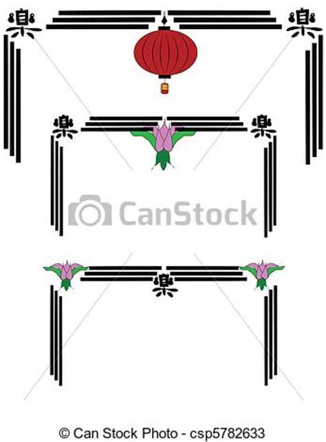cornici cinesi vettori di cinese lanterna cornici cornici cinese