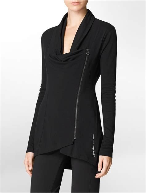 10 Jackets I by Calvin Klein Performance Asymmetrical Zip Front Hooded