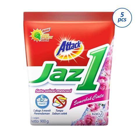 Attack Jaz1 Semerbak Segar 900g by Jual Attack Jaz 1 Semerbak Cinta Detergen 900 G 5 Pcs
