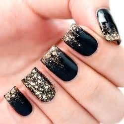 gallery for gt gold and black nails