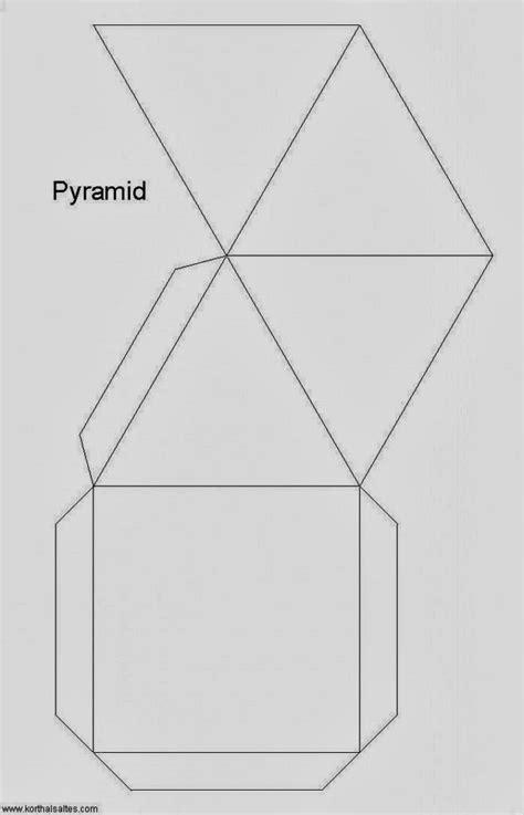 figuras geometricas en 3d para armar piramide para armar en 3d material para maestros