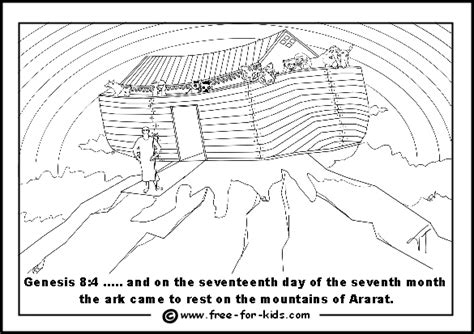 christian coloring pages noah s ark free ark and rainbow coloring pages
