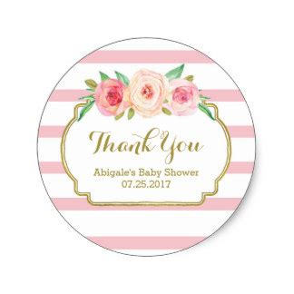 Sticker Labels For Baby Shower Favors by Vintage Stickers Zazzle Co Uk