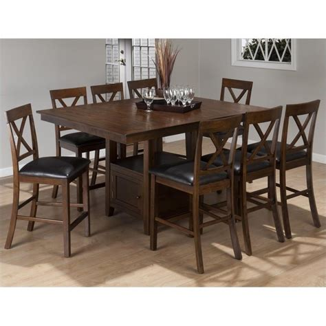 9 piece counter height dining room sets jofran 9 piece counter height dining set in olsen oak