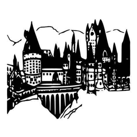 Hogwarts Logo Outline by Hogwarts Castle Svg Dxf Harry Potter Harry Potter School Castle Harry Potter Design
