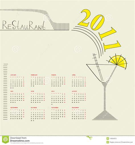 decorative calendar template decorative calendar 2011 royalty free stock photo image