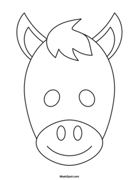 printable horse mask template masks clipart donkey pencil and in color masks clipart