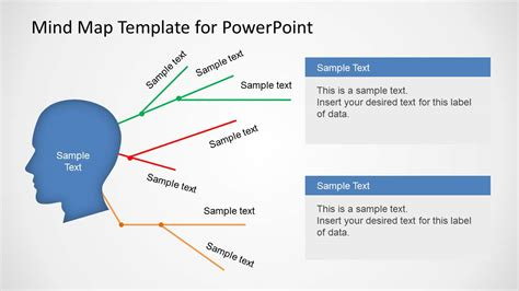 Simple Mind Map Template For Powerpoint Slidemodel Mind Map Powerpoint Template