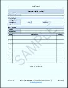 meetings template agenda for meeting template masir