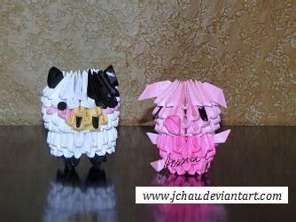 Origami Farm Animals - 3d origami farm animals by jchau on deviantart