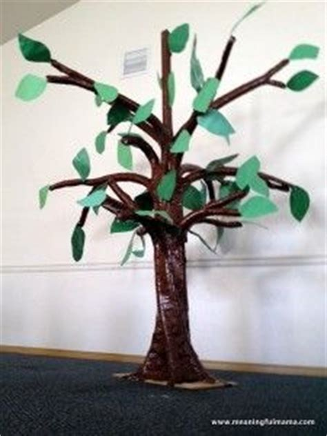 How To Make A 3d Tree Out Of Paper - 3d tree on cardboard tree hama