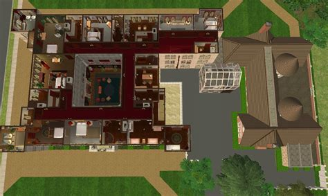 Housing Floor Plans Free by Mod The Sims Downton Abbey Highclere Castle No Cc