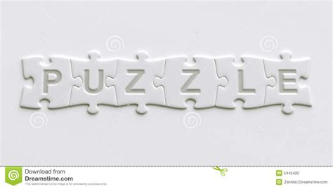 puzzle pieces with text written on them stock photo