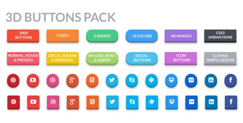 3d buttons pack by trissia codecanyon