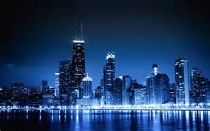 chicago lights blue cityscapes chicago lights skycrapers