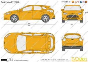 the blueprints vector drawing ford focus st