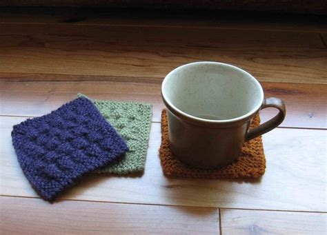 knit coaster pattern 12 best images about knit coasters on purl bee