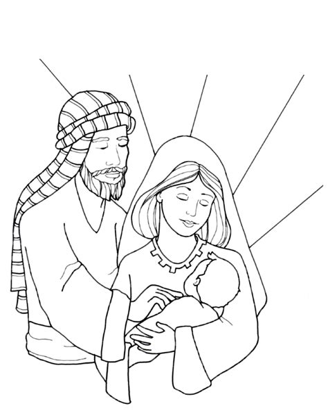 coloring page holy family the holy family