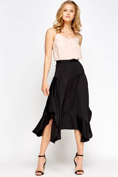 asymmetric hem midi skirt just 163 5