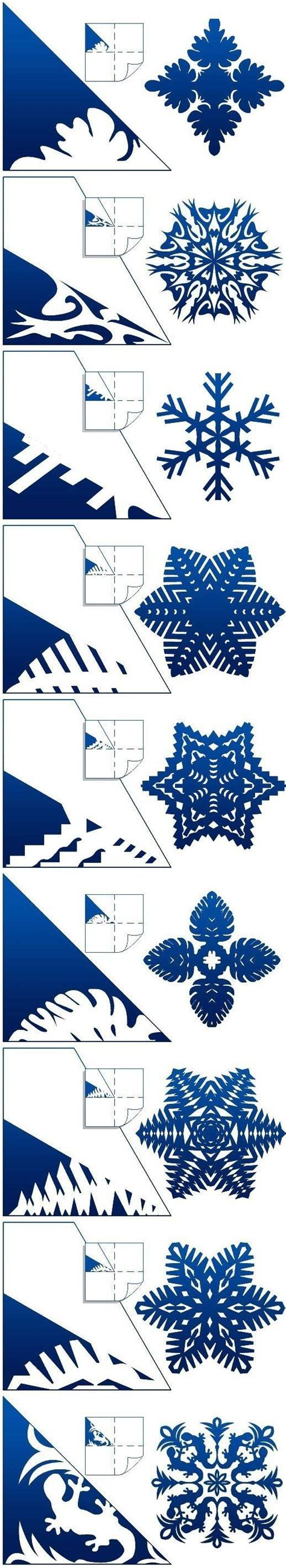 how to make schemes of paper snowflakes step by step diy