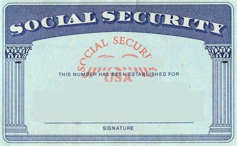 Blank Social Security Card Template by Blank Social Security Card Template Social Security Card