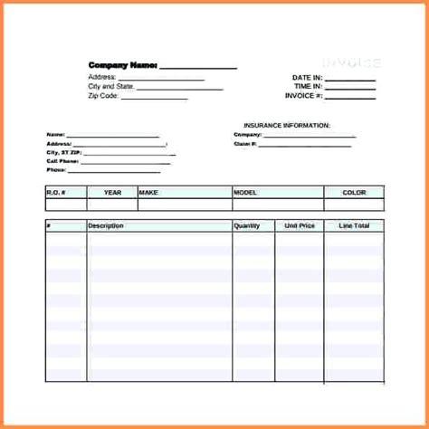 auto detailing receipt template mechanic receipt template mindofamillennial me