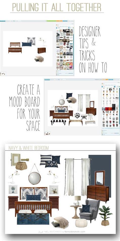 create  mood board   space remodelaholic