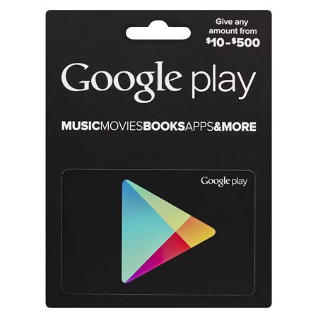 Google Play Gift Card 500 - google play 10 500 gift card walgreens