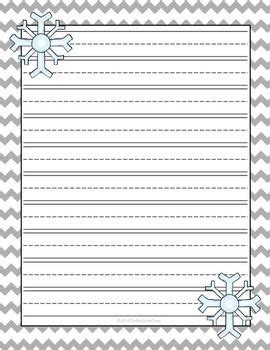 winter writing paper search results for printable lined writing